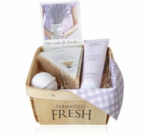Lavender Harvest Gift Basket Farmhouse Fresh