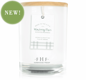 Wandering Pines Candle with Wooden Lid Farmhouse Fresh