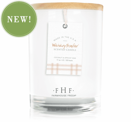 Whiskey Bonfire Candle Farmhouse Fresh